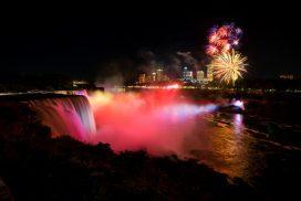 Niagarafälle Feuerwerk